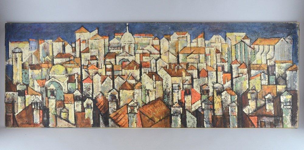 Stanic Milovan, Dubrovnik city scene, oil on canvas,