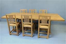 Robert 'Mouseman' Thompson of Kilbuurn dining table and
