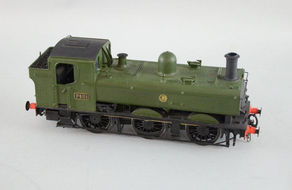 G W R livery locomotive, scratch built, 0-6-0, No 7421,