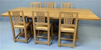 Robert 'Mouseman' Thompson of Kilburn dining table