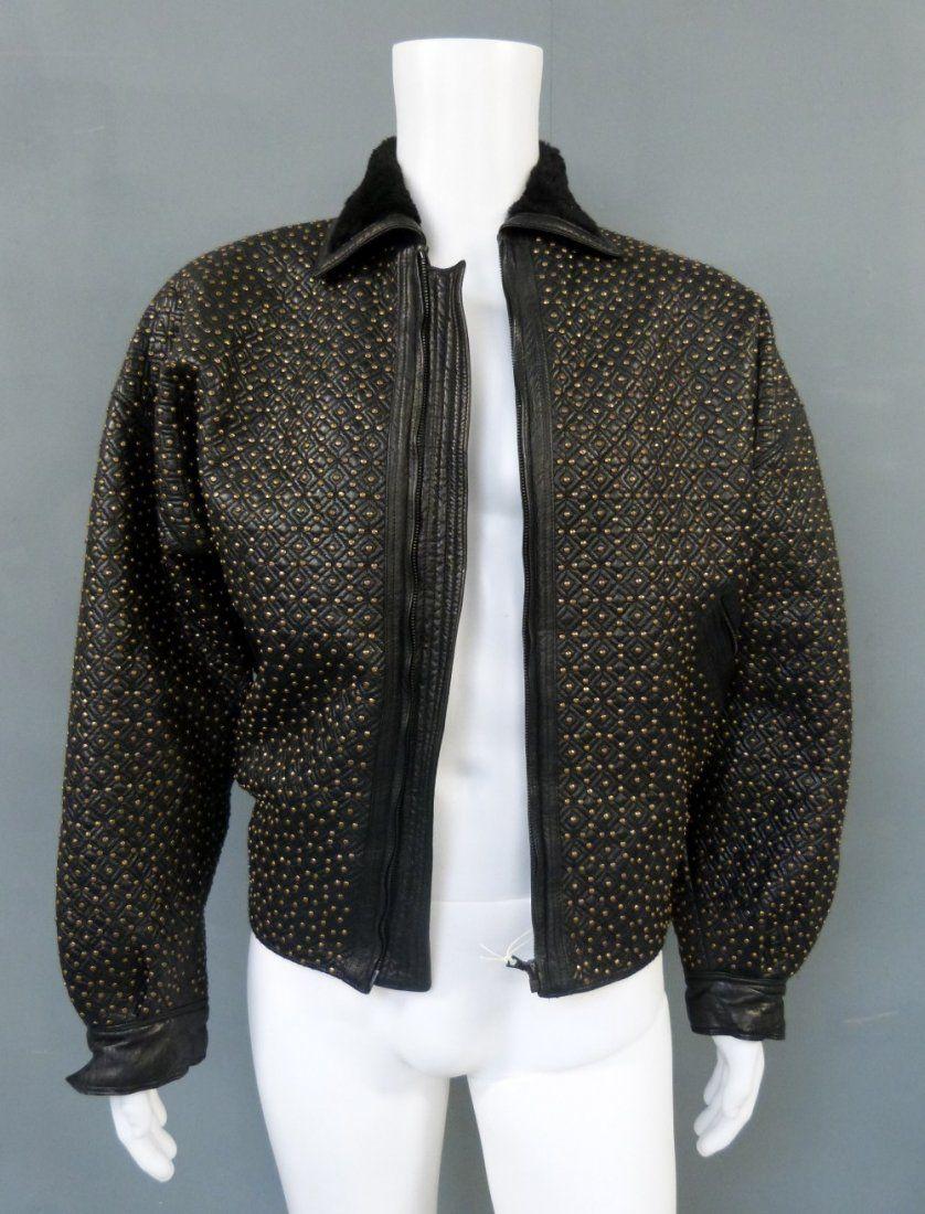Elton John, a Gianni Versace leather jacket with metal