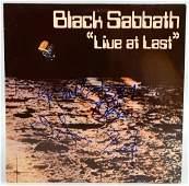 Black Sabbath Live at last vinyl LP signed to the