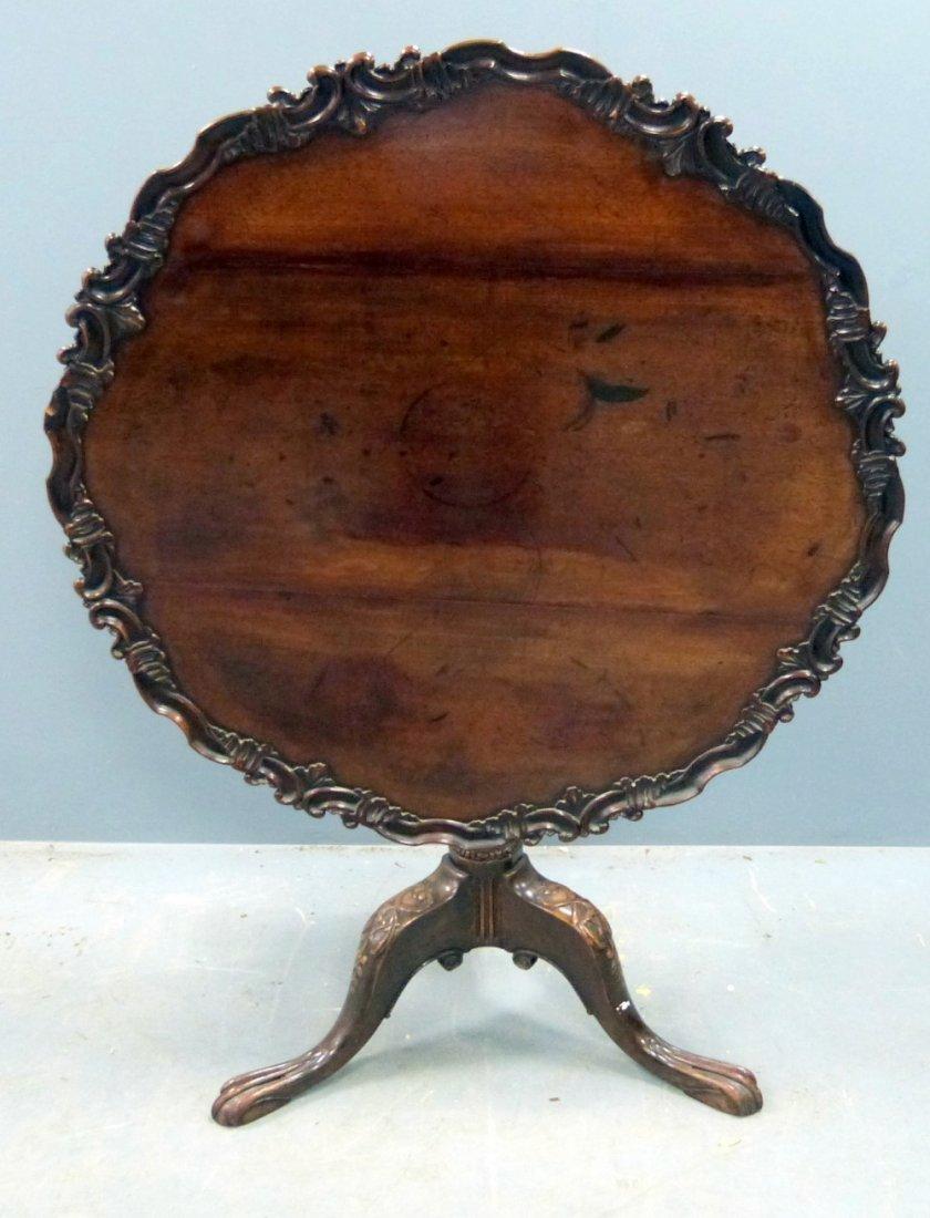 George III mahogany wine table on tripod base