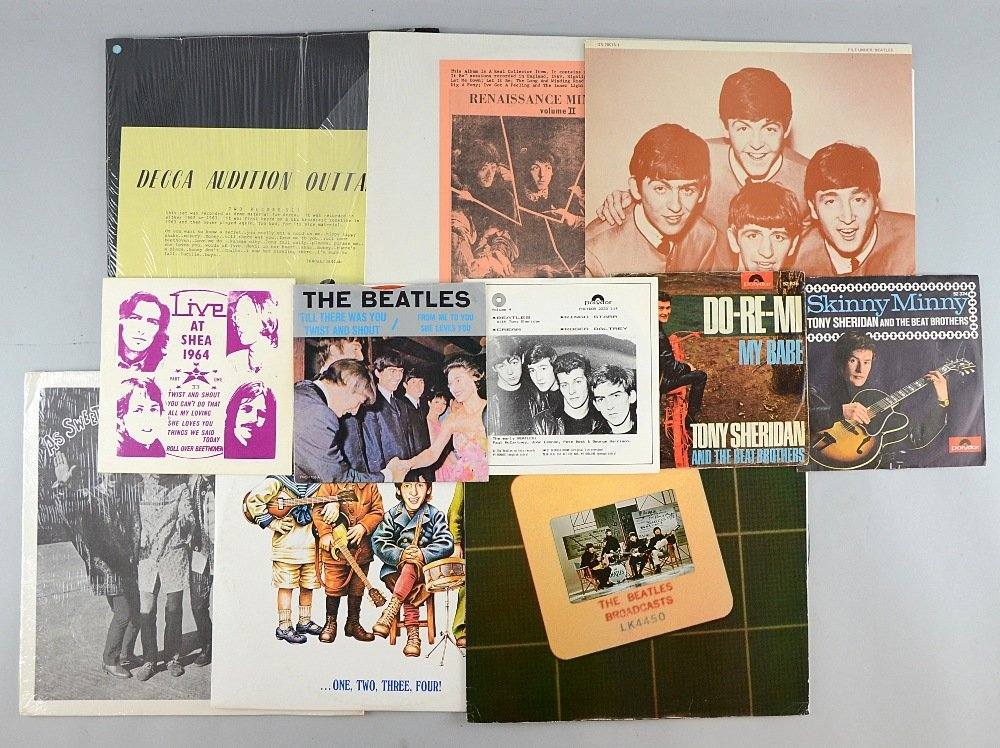 The Beatles, LPs & singles including Decca Audition