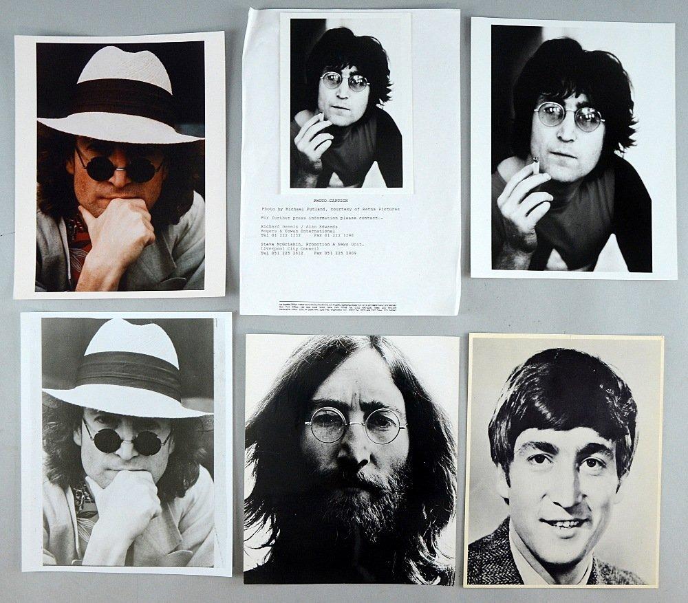 John Lennon Memorabilia including six photographs of