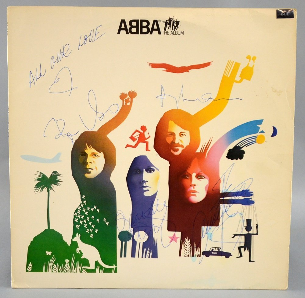 Abba The Album: signed by all four band members to