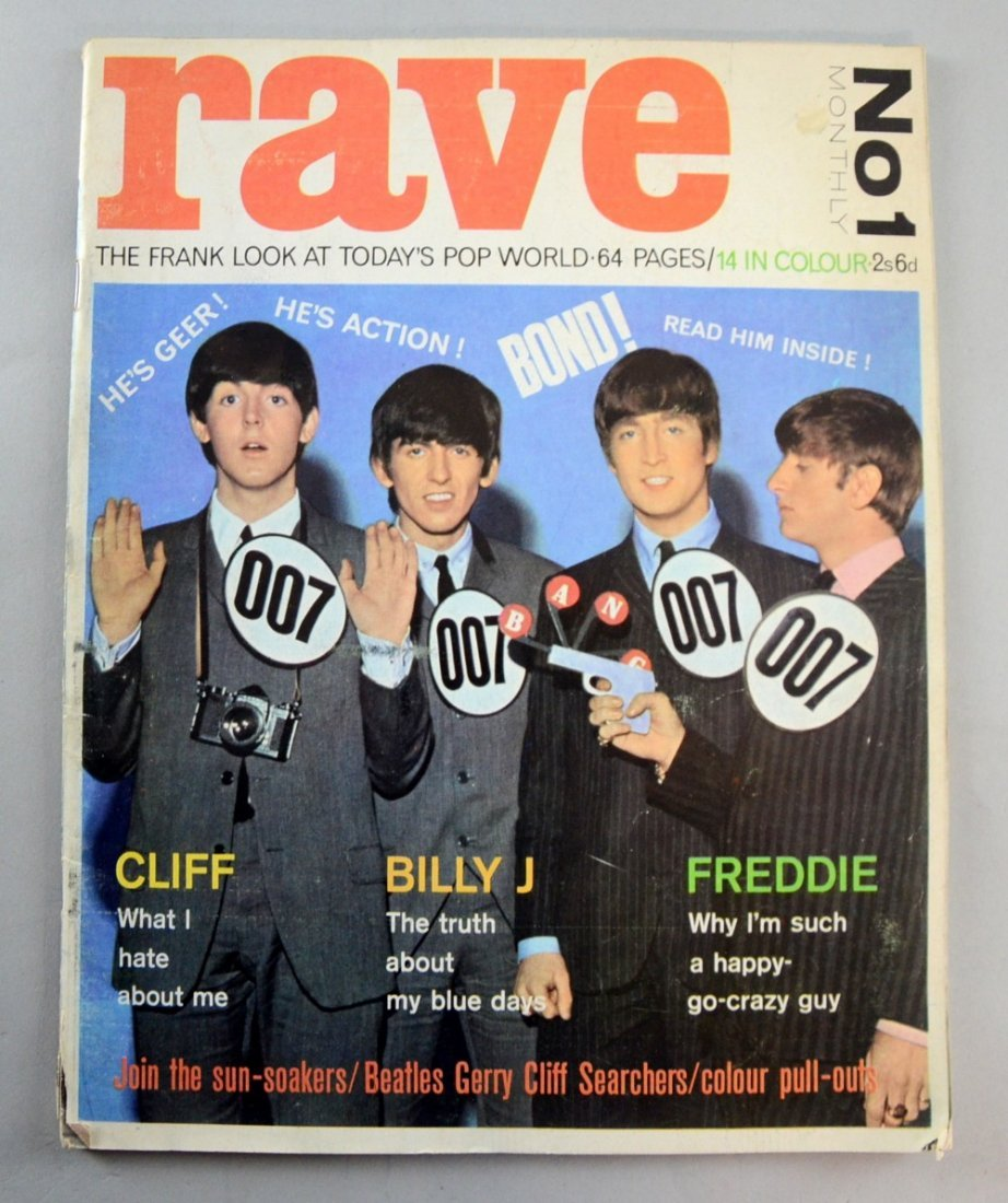 Rave Magazine Monthly No.1 from February 1964, cover