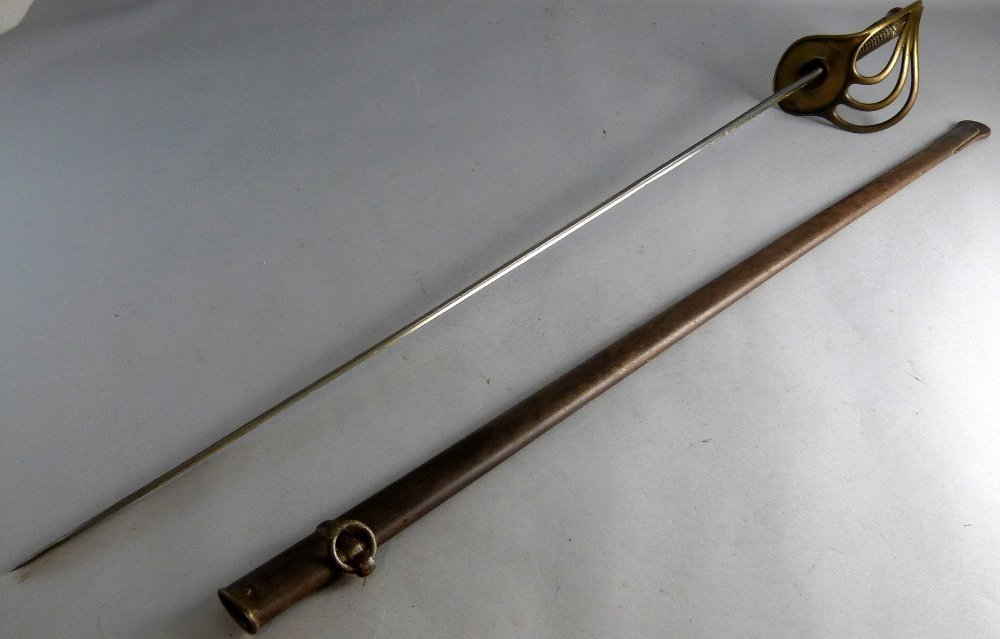 19th century French cavalry officers sword, edge of the