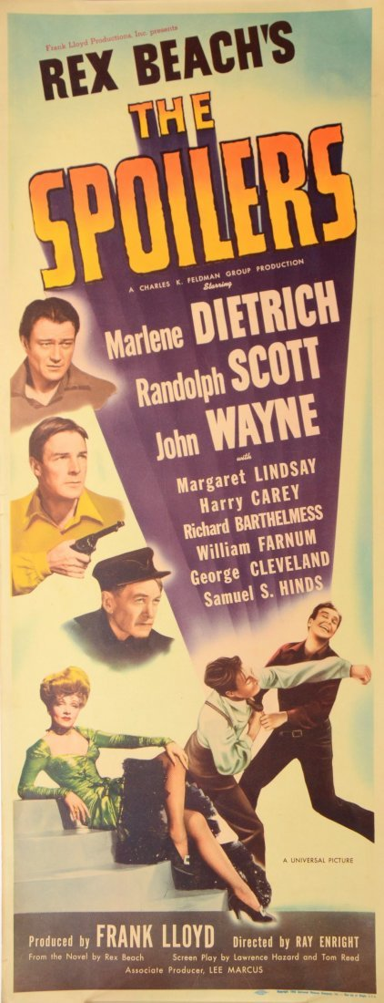The Spoliers (1942) US Insert film poster, starring