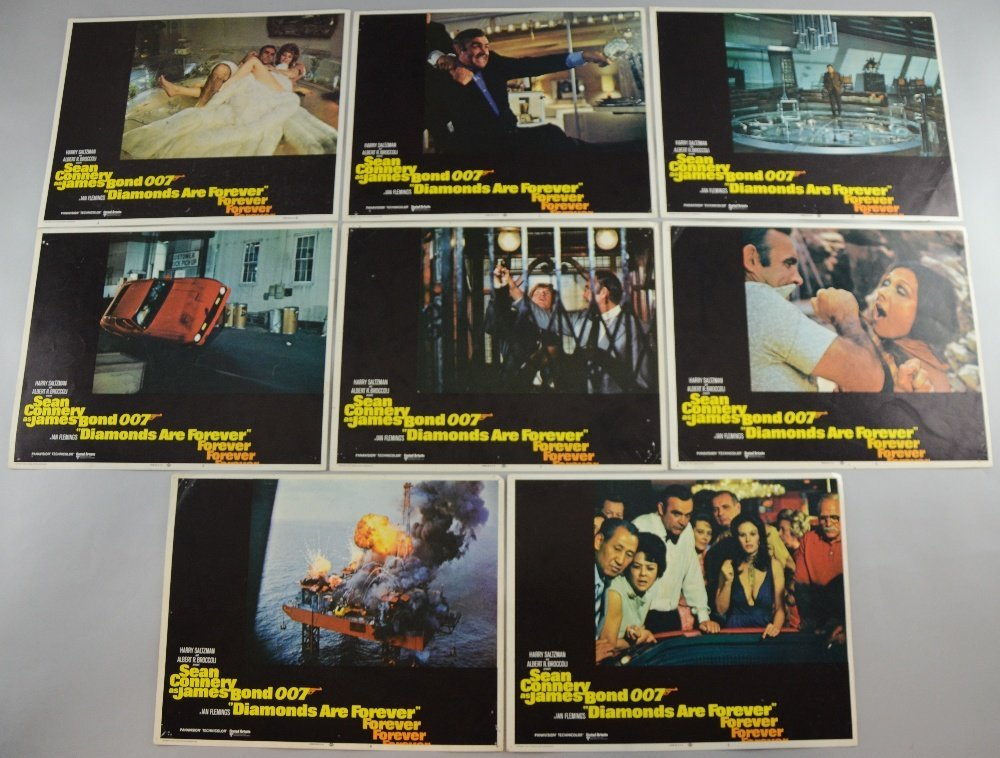 James Bond Diamonds Are Forever (1971) US Lobby cards