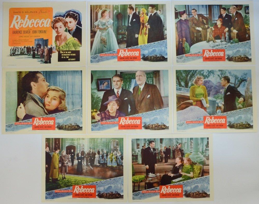 Rebecca (R-1950's) US lobby cards (8), a David O.
