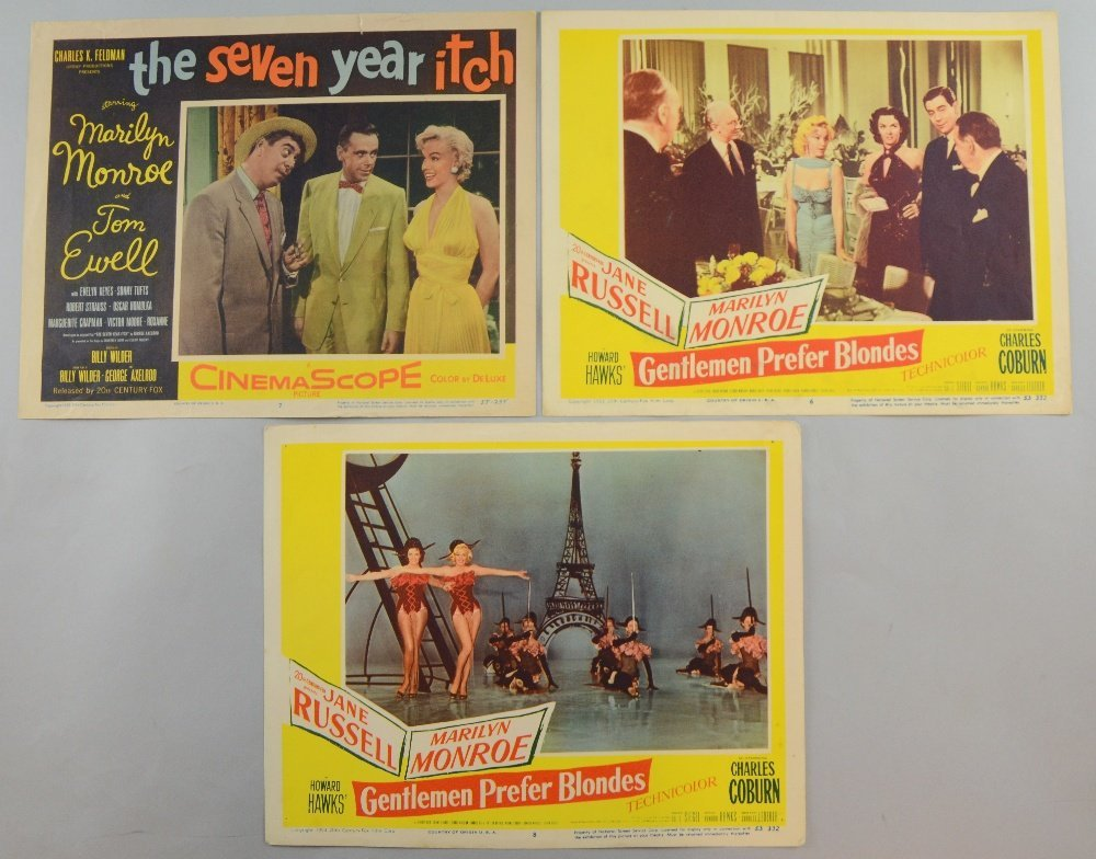 Gentlemen Prefer Blondes (1953) Two US Lobby cards (6 &