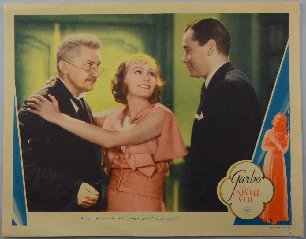 The Painted Veil (1934) US Lobby card, starring Greta