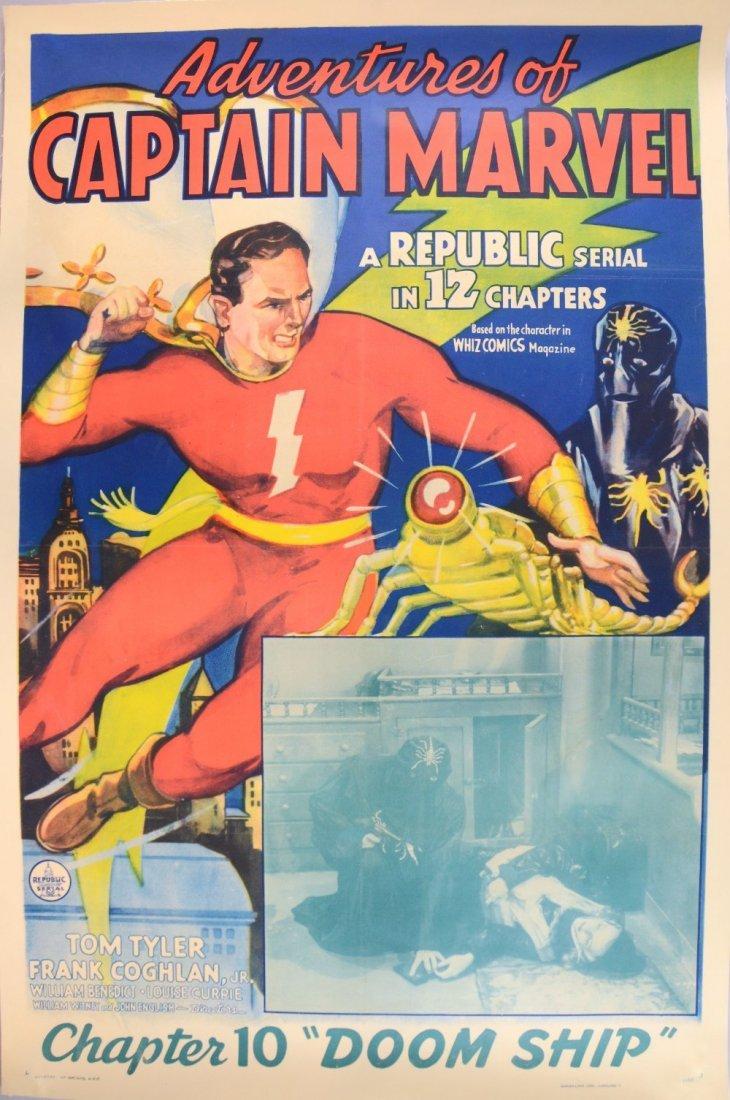 Adventures of Captain Marvel (Republic, 1941) One Sheet