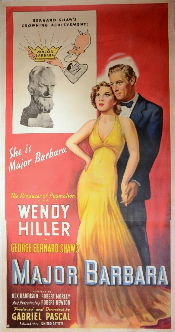Major Barbara (1941) US three sheet film poster,