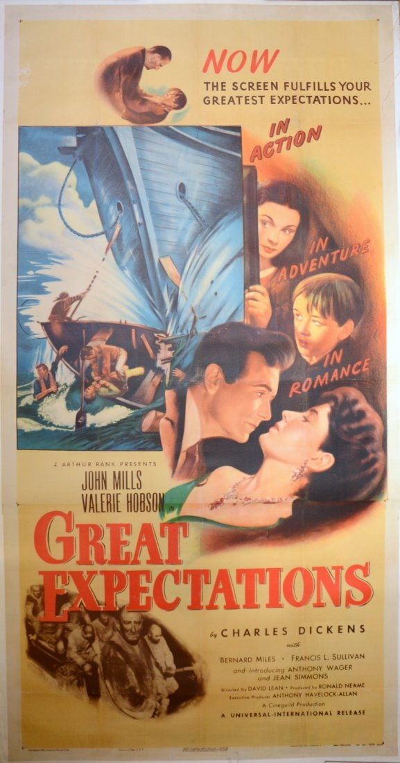 Great Expectations (1947) US Three sheet film poster,