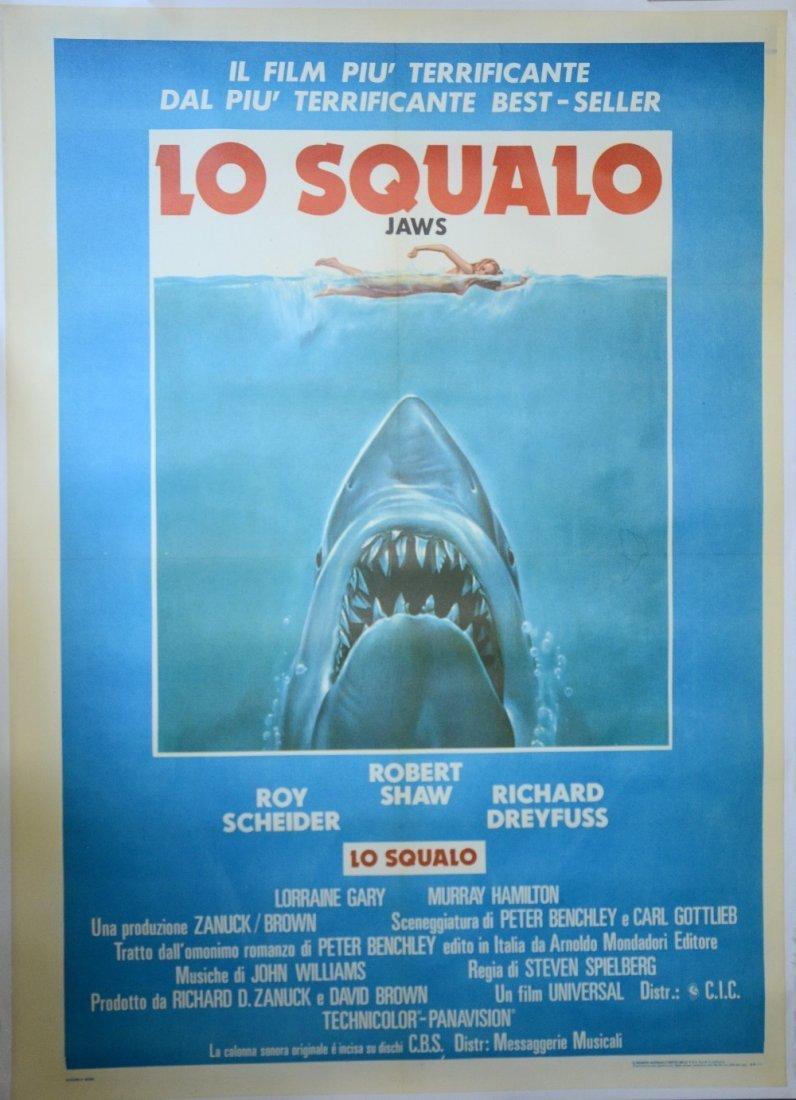 Jaws (Universal, 1975) Italian 2 - Foglio film poster,