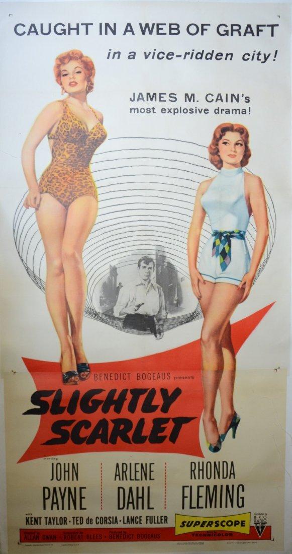 Slightly Scarlet (1956) US 3 sheet film poster,