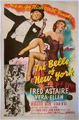 The Belle of New York (MGM, 1952) One sheet film