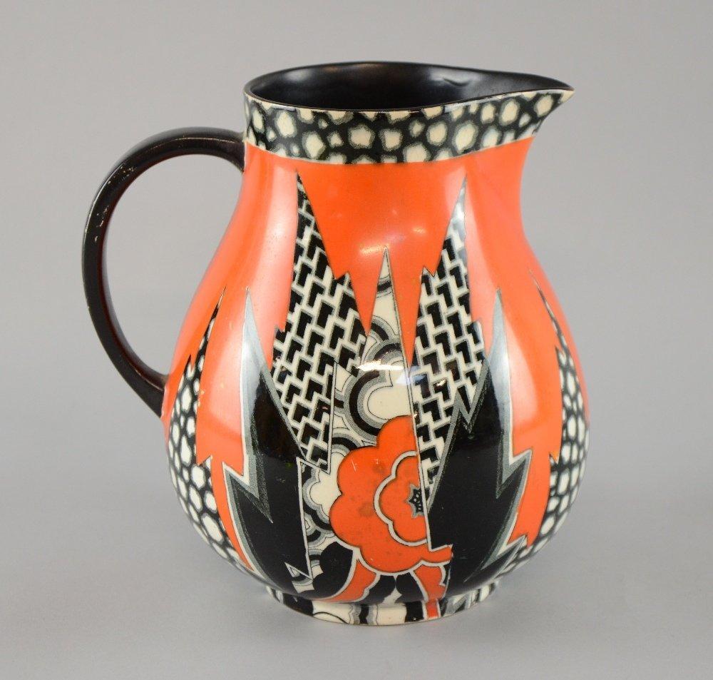 Crown Devon Fieldings an unusual 'jazzy' Art Deco jug