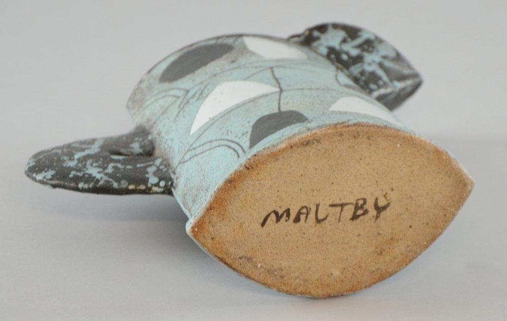 John Maltby jug studio pottery sloping slab built vase - 3