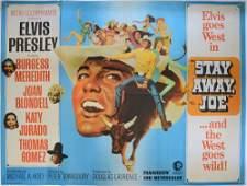 Elvis Presley Stay Away Joe 1968 British Quad film