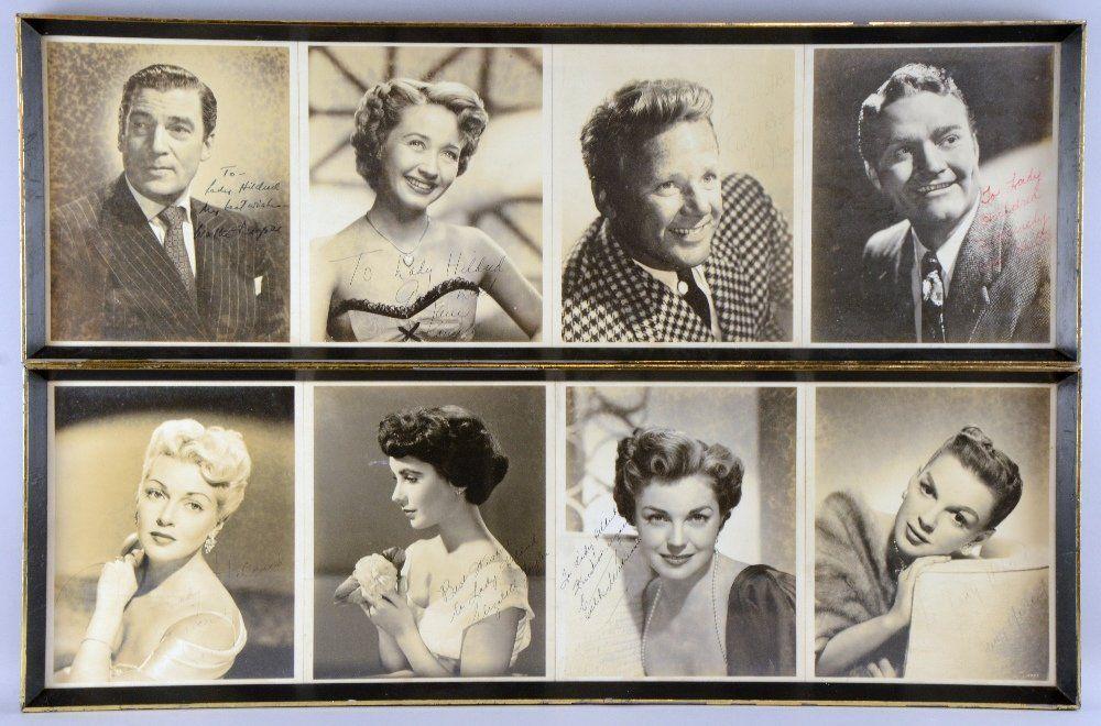 Autographs, 8 signed black & white photographs