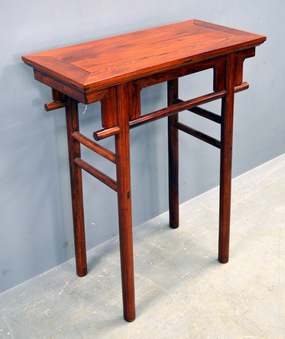 20th century Chinese huanghuali wine table with