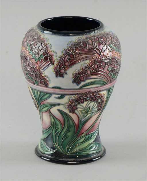 Moorcroft Vase With Gypsy Design By Rachel Bishop Date