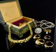 Collection of costume jewellery Including a silver