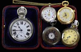 Continental lady's silver pocket watch another in