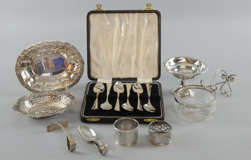 Six modern silver teaspoons, by Angora Silver Plate Co.