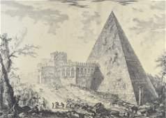 Veduta del Sepolcro di Cajo Cestio (View of the tomb of