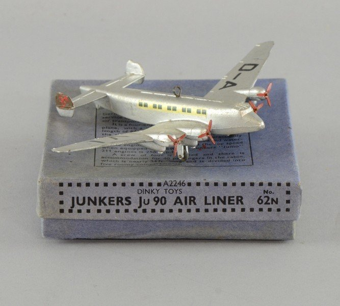 Dinky Toys No. 62n Junkers Ju 90 Air Liner, in original