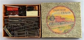 Hornby 'O' gauge clockwork tin-plate train set with