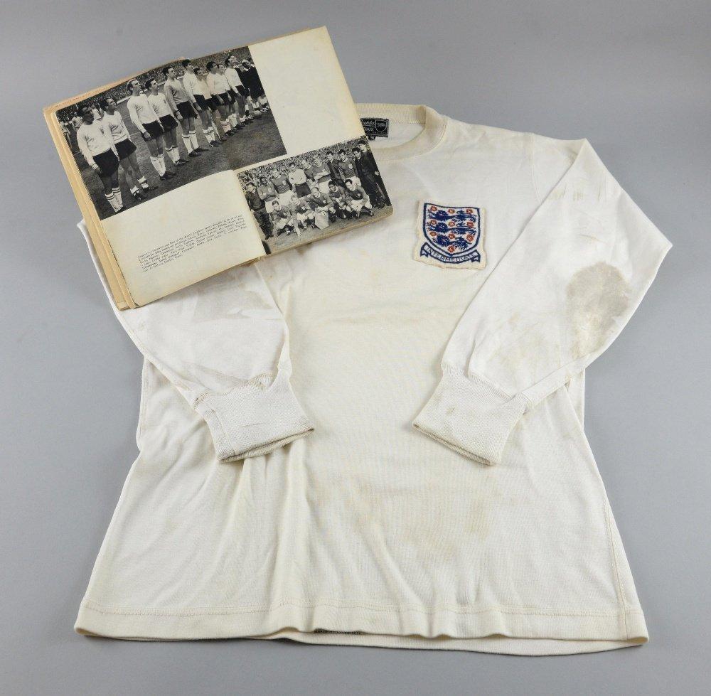 Bobby Moore match worn England Shirt, with Intermediate