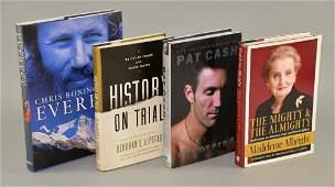 Four signed hardback books including Chris Bonington's
