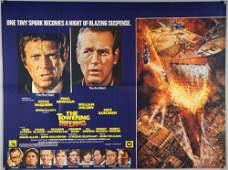9 British Quad film posters including, The Towering