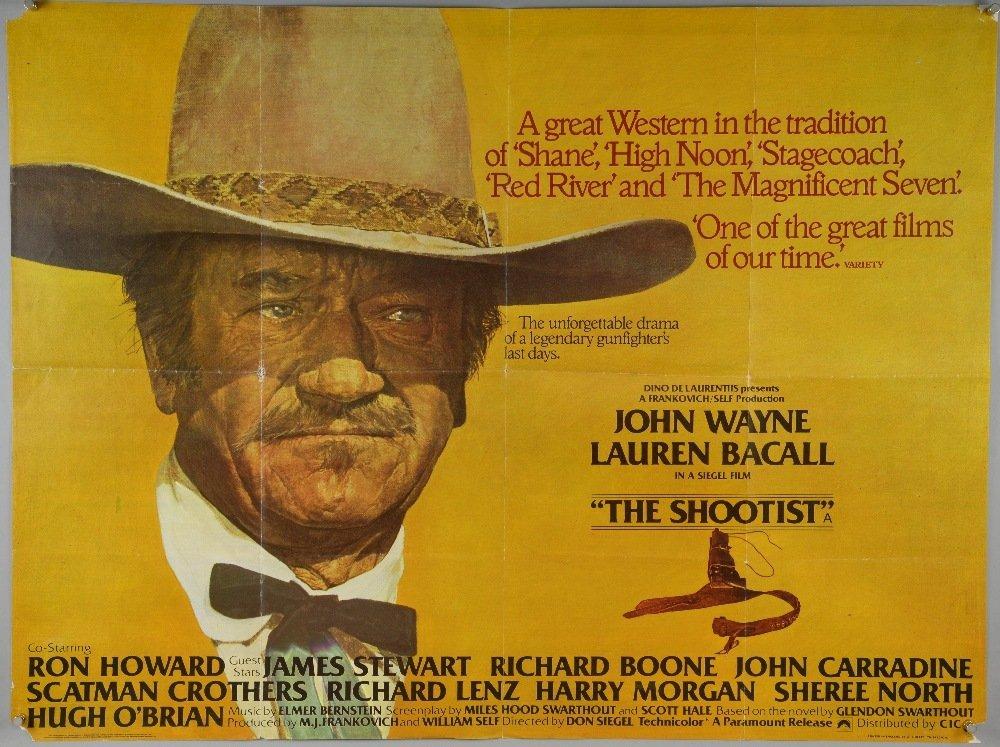 28 British Quad film posters including The Shootist,