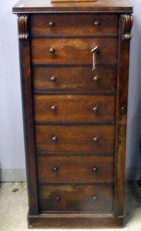 8: 19th century rosewood Wellington chest