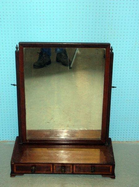 10: 19th century dressing table mirror