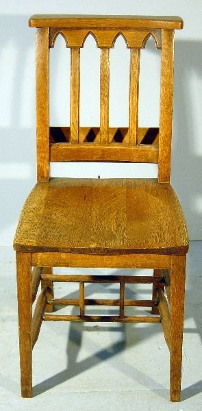 11: Set of four oak chairs from Westminster abbey