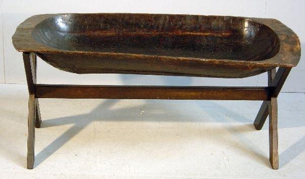 12: Early 19th century elm dough trough