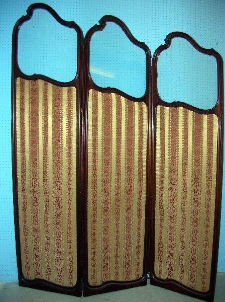 16: Edwardian mahogany folding screen