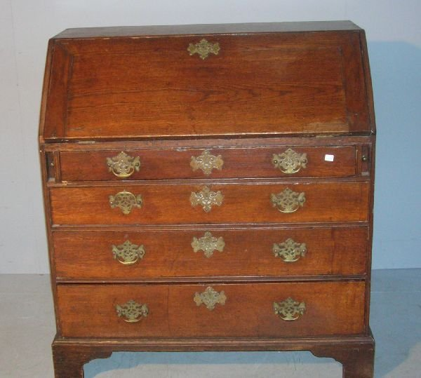 19: George III oak bureau