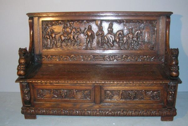 20: Late 19th/early 20th century heavily carved
