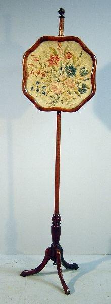 24: 19th century walnut pole screen