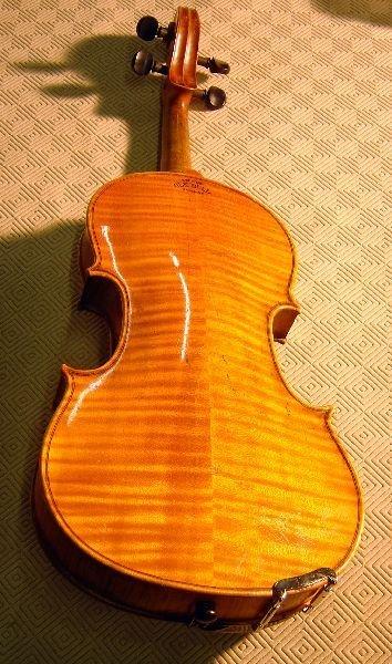 786: German violin, back stamped Copy of Ole Bull - 2