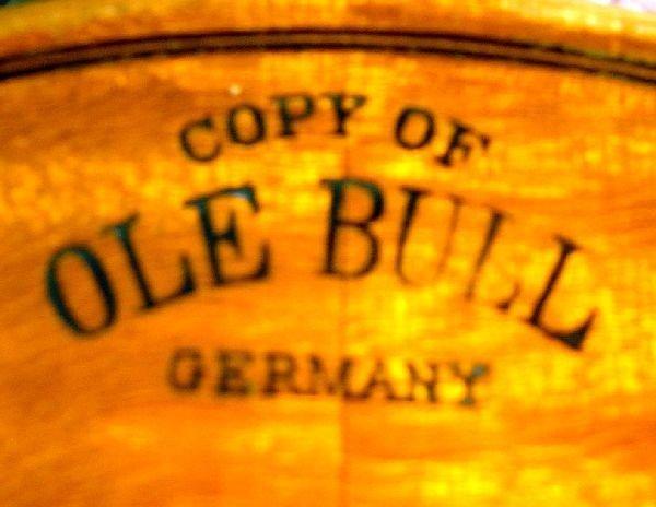786: German violin, back stamped Copy of Ole Bull - 4