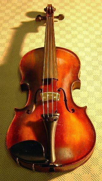 792: German violin, back stamped Stainer,